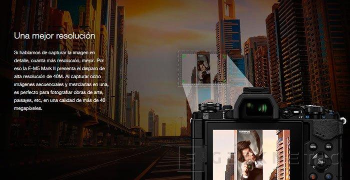 La nueva mirrorless Olympus OM-D E-M5 Mark II es capaz de realizar fotos de 64 Megapíxeles, Imagen 2