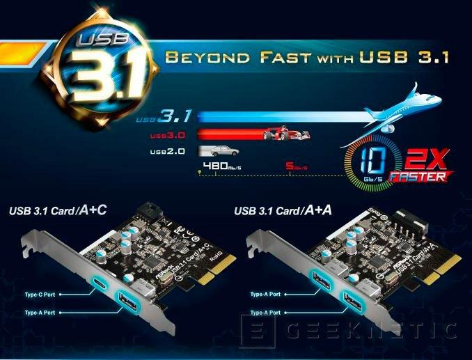 ASRock adoptará el USB 3.1 en nuevas placas base y tarjetas de expansión, Imagen 2