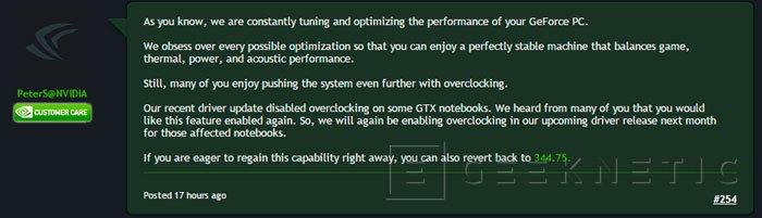 NVIDIA vuelve a habilitar el overclock en sus GPU Maxwell de portátiles, Imagen 1