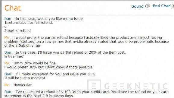 Amazon está devolviendo dinero a los compradores de las GTX 970, Imagen 1
