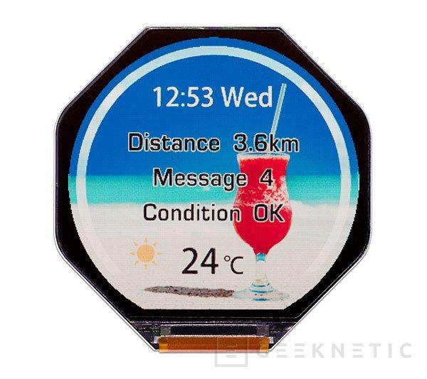 Japan Display prepara el lanzamiento de una pantalla de bajo consumo para wearables, Imagen 1