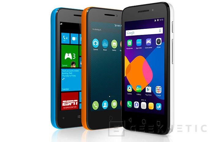 Alcatel Pixi 3, el móvil con tres sistemas operativos, Imagen 3