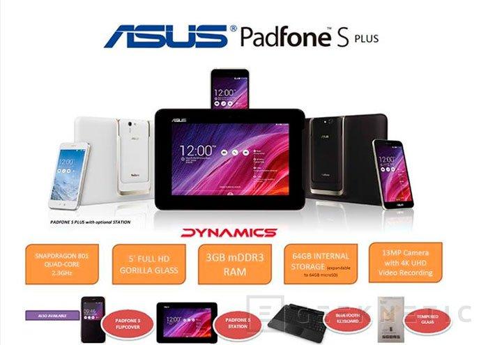 ASUS mantiene el concepto de smartphone convertible con el nuevo PadFone S Plus, Imagen 1