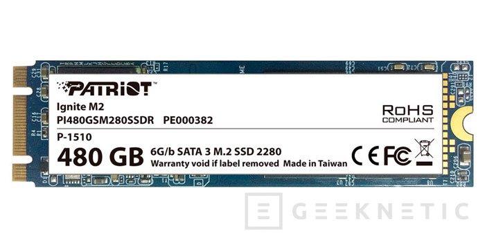 Patriot presenta sus SSD M.2 Ignite , Imagen 1