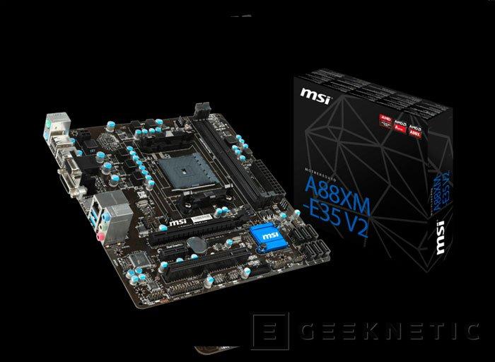 MSI se prepara para la llegada de las APU AMD Godavari con 8 nuevas placas base FM2+, Imagen 2