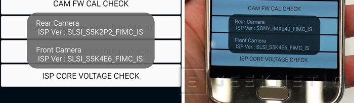 Algunos Samsung Galaxy S6 y S6 Edge llevan cámaras ISOCELL y otros incluyen sensores Sony, Imagen 1