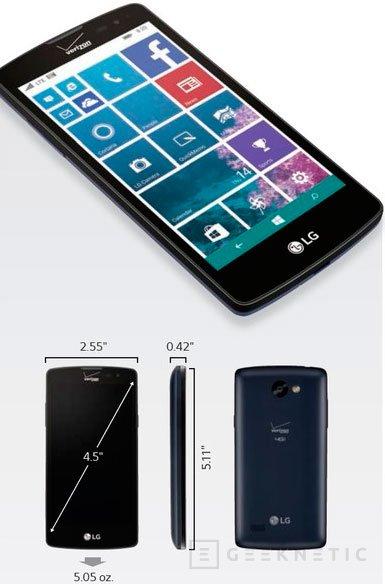 LG vuelve a Windows Phone con su LG Lancet, Imagen 1