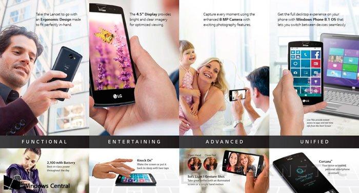 LG vuelve a Windows Phone con su LG Lancet, Imagen 2