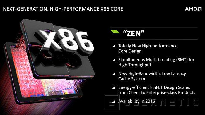 AMD desvela nuevos detalles de su nueva arquitectura de CPUs de alto rendimiento ZEN, Imagen 1