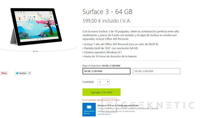 La Surface 3 llega a España, Imagen 1