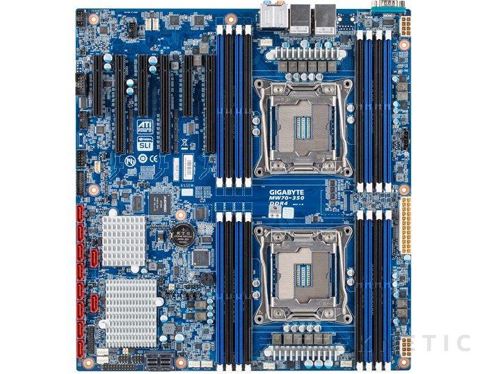 Gigabyte MW70-3S0, nueva placa base con doble socket LGA 2011-3, Imagen 2