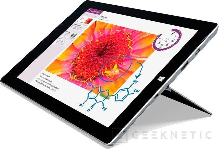 Microsoft prepara una versión intermedia de su tablet Surface 3, Imagen 1