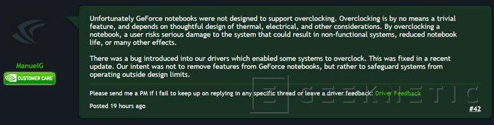 NVIDIA vuelve a bloquear el overclock en sus tarjetas gráficas de portátiles, Imagen 1