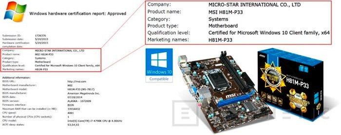 MSI tiene la primera placa certificada para Windows 10, Imagen 1