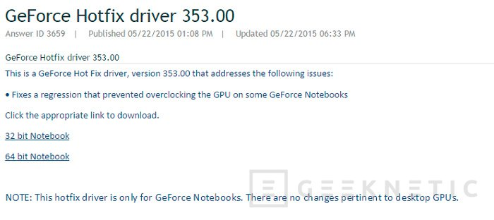 NVIDIA vuelve a permitir el overclock en sus drivers para portátiles, Imagen 2