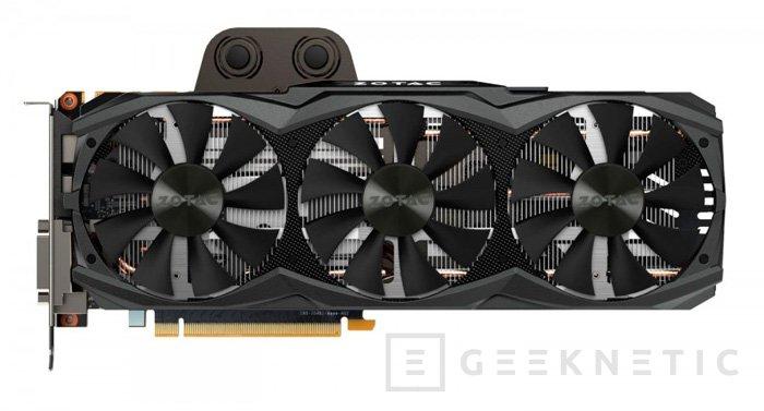 ZOTAC muestra una GTX TITAN X con refrigeración líquida y tres ventiladores, Imagen 2