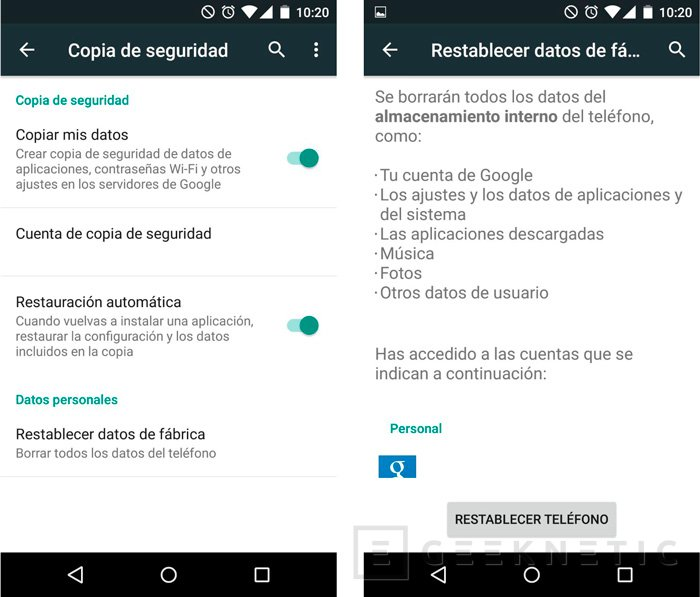 Restaurar de fábrica un smartphone con iOS, Windows Phone o Android, Imagen 1