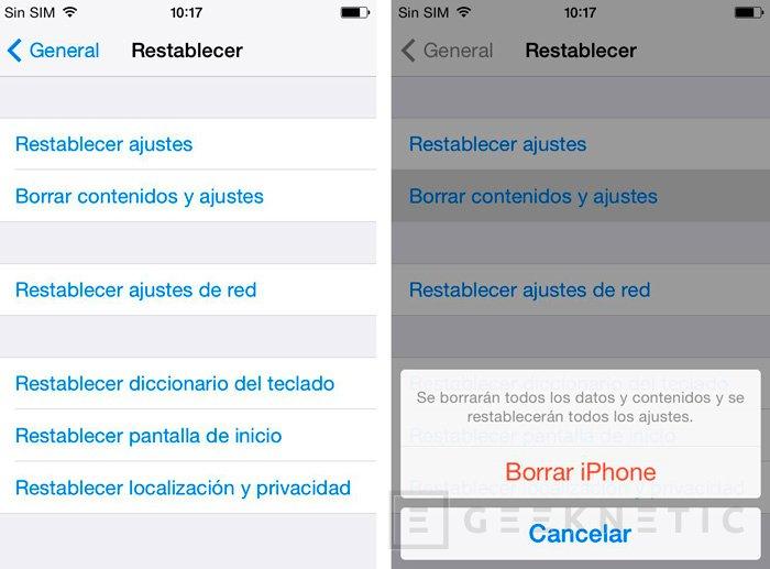 Restaurar de fábrica un smartphone con iOS, Windows Phone o Android, Imagen 3