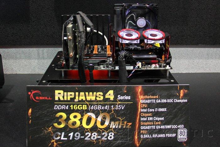 G.SKILL ya alcanza los 3.800 MHz en sus nuevos kits DDR4 Ripjaws 4, Imagen 1