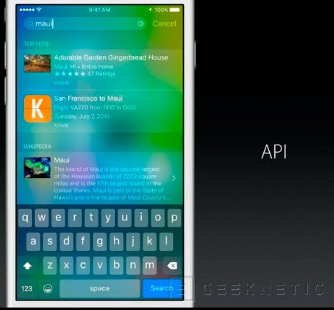 Apple desvela las novedades de iOS 9, Imagen 1