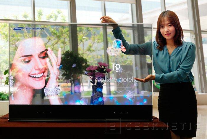 Samsung muestra su prototipo de pantalla OLED transparente, Imagen 1