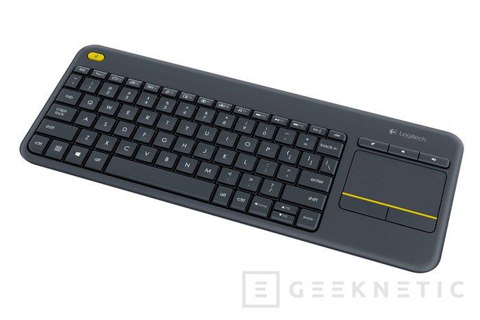 Logitech presenta su combo de teclado y trackpad Wireless Touch K400 Plus, Imagen 1