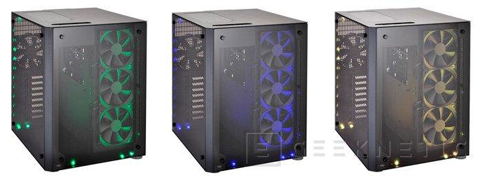 Llega la torre Lian Li PC-O8 con doble compartimento y luces RGB, Imagen 2
