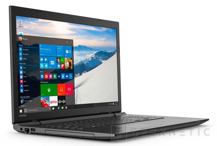 La serie C de portátiles Toshiba Satellite también se actualiza para Windows 10, Imagen 1