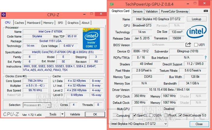 Filtrados los primeros test del Intel Skylake Core i7 6700K , Imagen 1