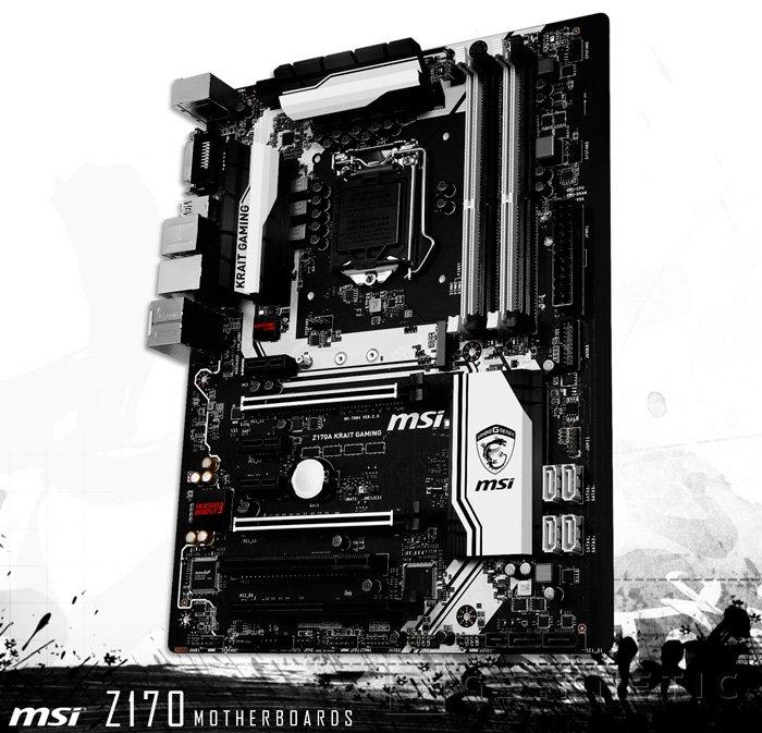 MSI deja ver su placa Z170A Krait Gaming para Intel Skylake, Imagen 1