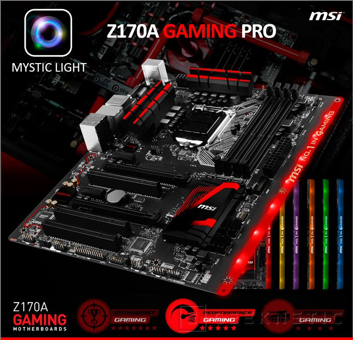 MSI muestra la Z170A GAMING Pro con iluminación RGB, Imagen 1