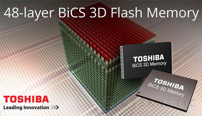 Toshiba y Sandisk consiguen el primer chip de memoria Flash BiCS de 48 capas y 256 gb, Imagen 1