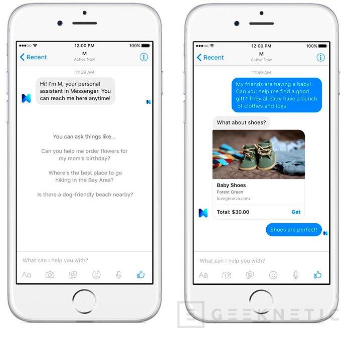 Facebook M es el asistente virtual de la famosa red social, Imagen 1