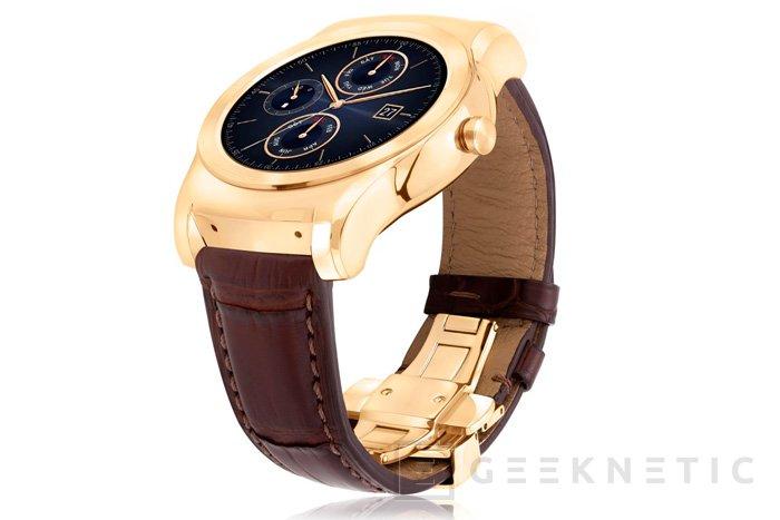 LG cubre de oro y piel de cocodrilo su LG Watch Urbane Luxe, Imagen 1