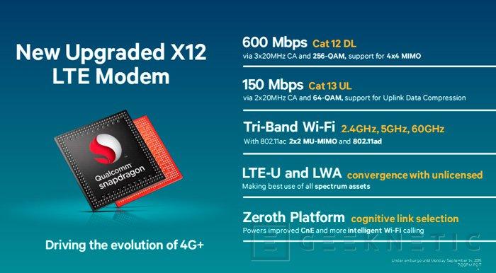 El módem LTE del Snapdragon 820 podrá descargar datos a 600 Mbps, Imagen 1