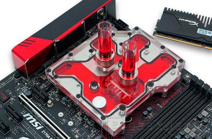 EK lanza un bloque para refrigerar la CPU y la placa MSI Z170A, Imagen 1