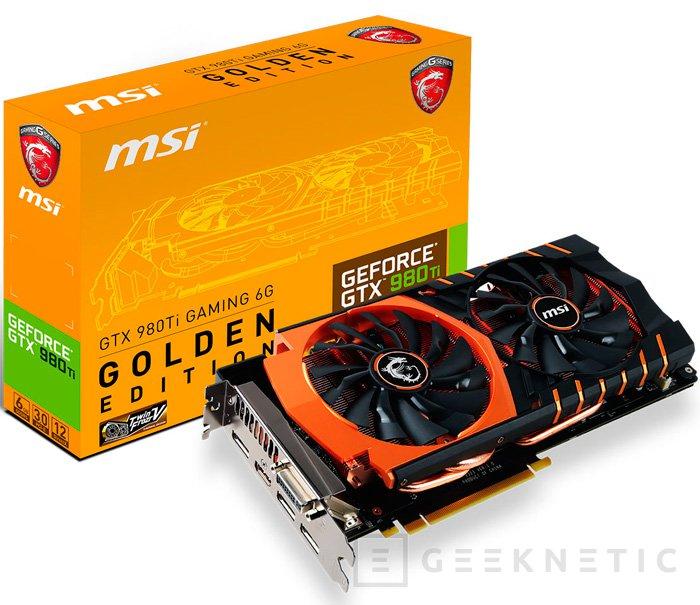 MSI apuesta por el cobre en su nueva GTX 980 Ti Golden Edition, Imagen 1