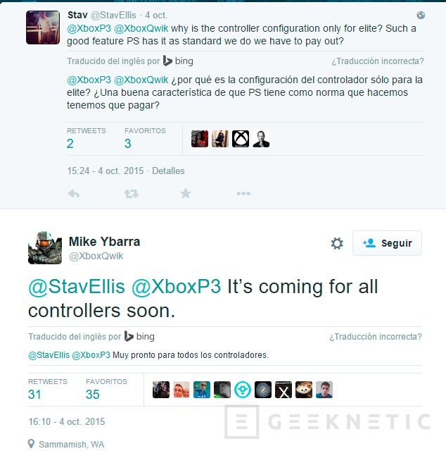 Todos los mandos de la Xbox One tendrán botones configurables, Imagen 1