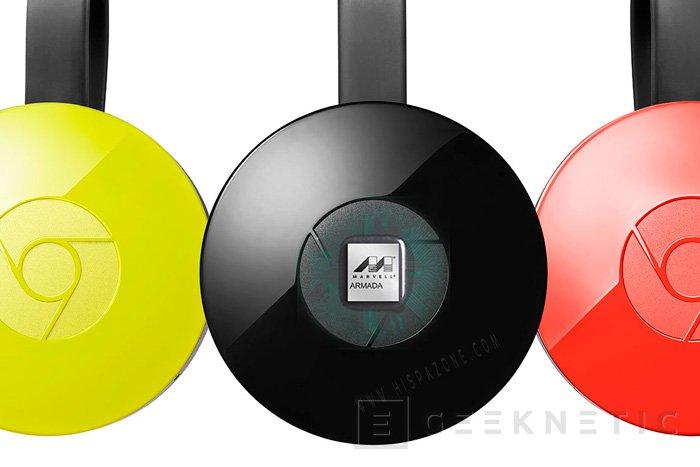 El nuevo Chromecast 2 incluye un SoC de doble núcleo Marvell ARMADA 88DE3006, Imagen 1