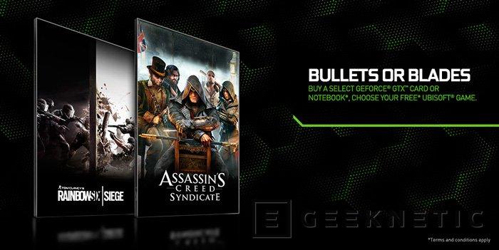 NVIDIA lanza un nuevo bundle con el Rainbow Six Siege y el Assassin's Creed Syndicate, Imagen 1