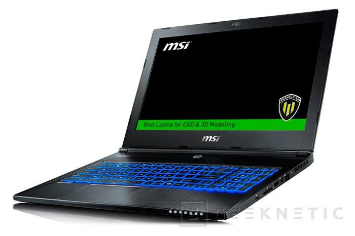 La workstation ultrafina WS60 de MSI recibe a las CPU Intel Skylake, Imagen 1