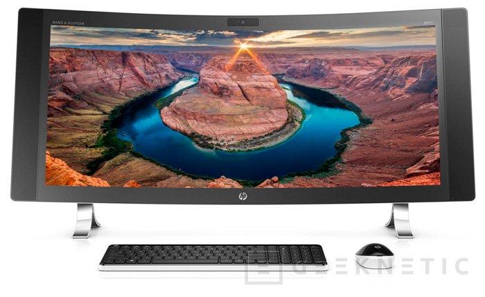 HP Envy Curve, el primer All in One con pantalla curvada, Imagen 1