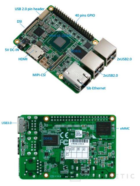 Up, un nuevo competidor para la raspberry Pi compatible con Windows 10 , Imagen 2