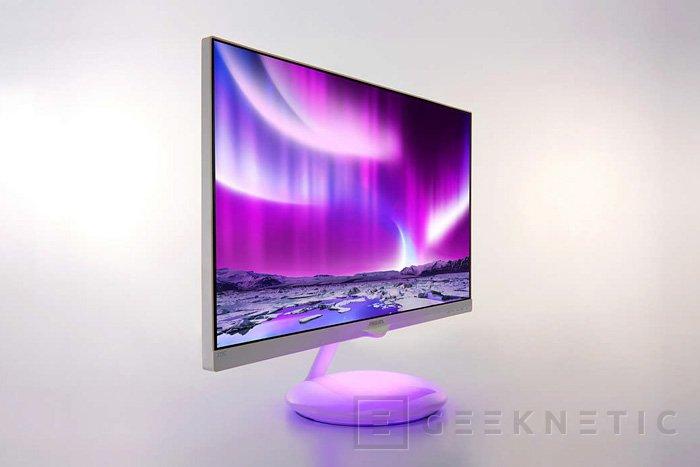 La base del nuevo monitor de Philips cambia de color según lo que estemos viendo, Imagen 1