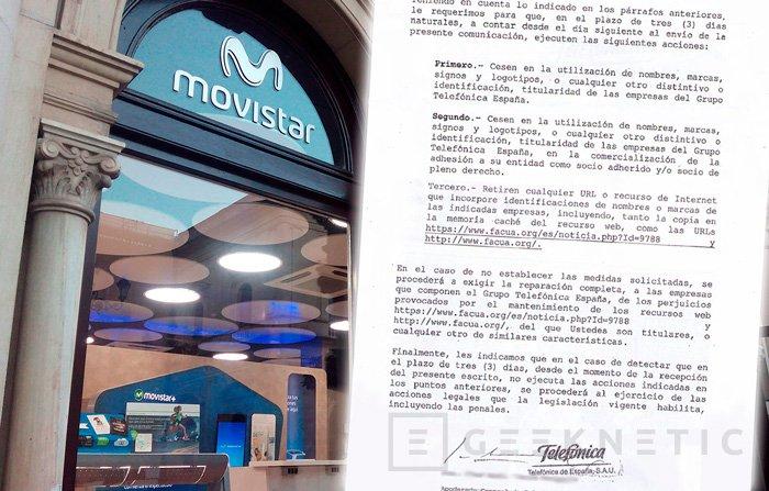 Movistar amenaza a Facua con acciones legales si no dejan de mencionarlos, Imagen 1