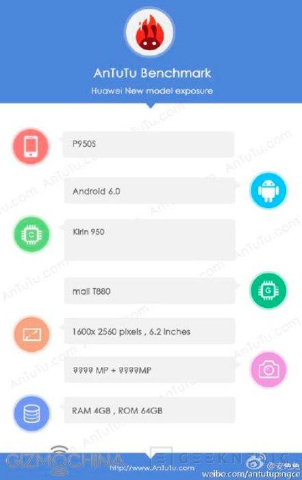 El Huawei P9 Max también utilizará el SoC Kirin 950, Imagen 2