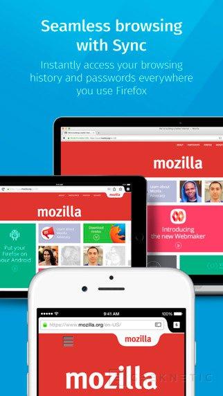 Mozilla lanza Firefox para iOS, Imagen 1