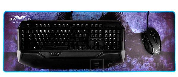 SilverStone Raven RVP01, una alfombrilla extralarga para teclado y ratón, Imagen 1