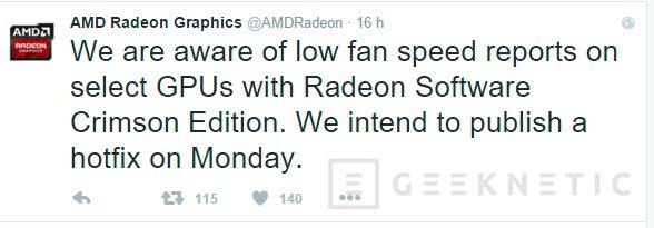 Un bug en los nuevos drivers de AMD hace que los ventiladores no funcionen correctamente, Imagen 1
