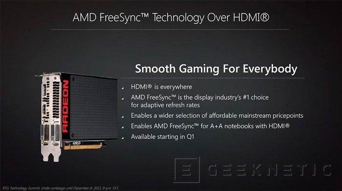 AMD añadirá soporte para FreeSync vía HDMI y HDR a sus próximas tarjetas gráficas, Imagen 1